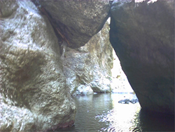 Canyon dell'Inferno - Interno del canyon